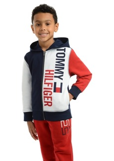 Tommy Hilfiger Toddler Boys Lawrence Colorblocked Full-Zip Fleece Logo Hoodie