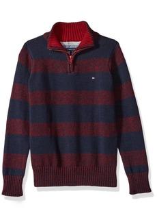 Tommy Hilfiger Little Boys' Long Sleeve Half Zip Pullover Sweater