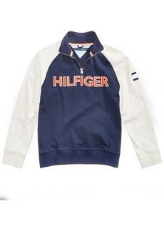 Tommy Hilfiger Little Boys Raglan Quarter-Zip Cotton Pullover