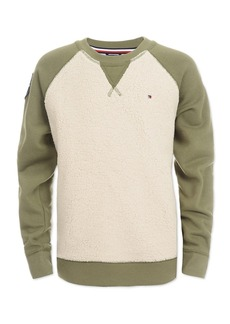 Tommy Hilfiger Little Boys Raglan Sherpa Sweater