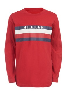 Tommy Hilfiger Little Boys Ron Stripe Logo T-Shirt