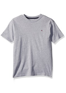 Tommy Hilfiger Boys' Little Short Sleeve Solid Crew-Neck T-Shirt