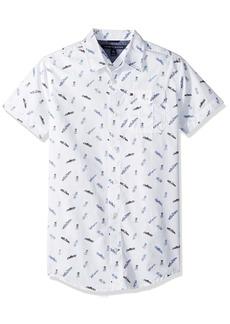 Tommy Hilfiger Little Boys' Short Sleeve Printed Shirt