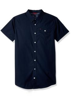 Tommy Hilfiger Little Boys' Short Sleeve Solid Shirt