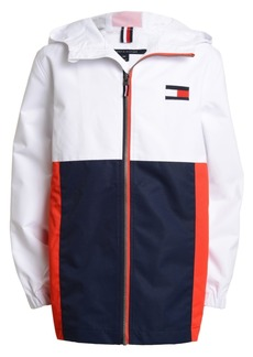Tommy Hilfiger Toddler Boys Signature Colorblocked Logo-Print Hooded Jacket