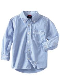 Tommy Hilfiger Little Boys' Tommy Stripe Woven Shirt  7