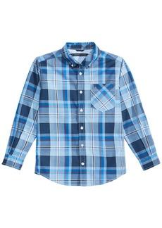 Tommy Hilfiger Little Boys Topher Plaid Cotton Shirt