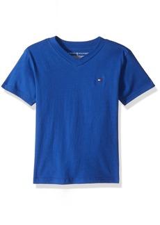 Tommy Hilfiger Little Boys' V Neck Solid Short Sleeve Tee Surf The Web