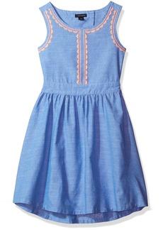 Tommy Hilfiger Little Girls' Chambray Embro Dress  6x