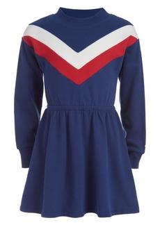 Tommy Hilfiger Little Girls Chevron Sweatshirt Dress