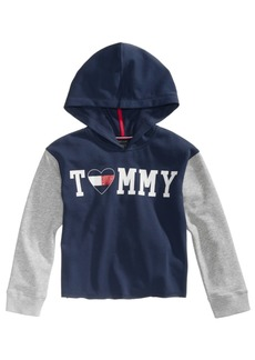 Tommy Hilfiger Little Girls Colorblocked Logo Hoodie