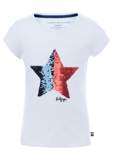 Tommy Hilfiger Little Girls Cotton Flip Sequin Star T-Shirt