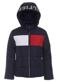 Tommy Hilfiger Little Girls Flag Puffer Jacket