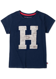 Tommy Hilfiger Little Girls Flip Sequin H Logo T-Shirt