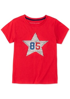 Tommy Hilfiger Little Girls Flip Sequin Star T-Shirt