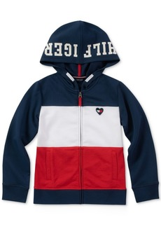 Tommy Hilfiger Little Girls Full-Zip Colorblocked Hoodie