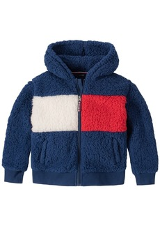 Tommy Hilfiger Toddler Girls Fuzzy Fleece Hooded Jacket