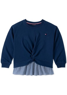 Tommy Hilfiger Little Girls Layered-Look Twist Shirt