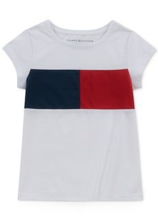 Tommy Hilfiger Little Girls Pieced Logo T-Shirt