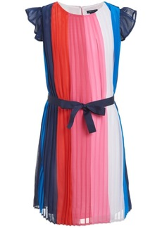 Tommy Hilfiger Little Girls Pleated Striped Dress