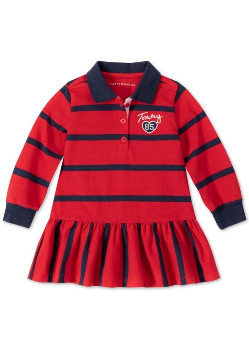 Tommy Hilfiger Toddler Girls Striped Collared Dress