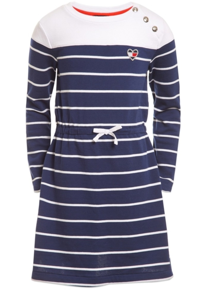 Tommy Hilfiger Toddler Girls Striped French Terry Dress