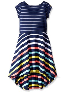 Tommy Hilfiger Little Girls' Yarn Dye Engineer High-Low Dress