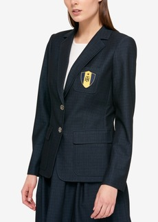 Tommy Hilfiger Logo-Patch Polished Denim Blazer