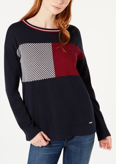 Tommy Hilfiger Logo-Pattern Crew-Neck Sweater, Created for Macy's