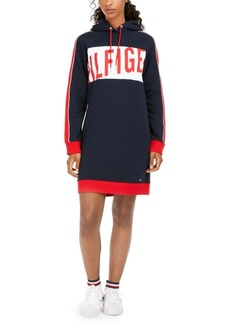 Tommy Hilfiger Logo-Print Hoodie Dress