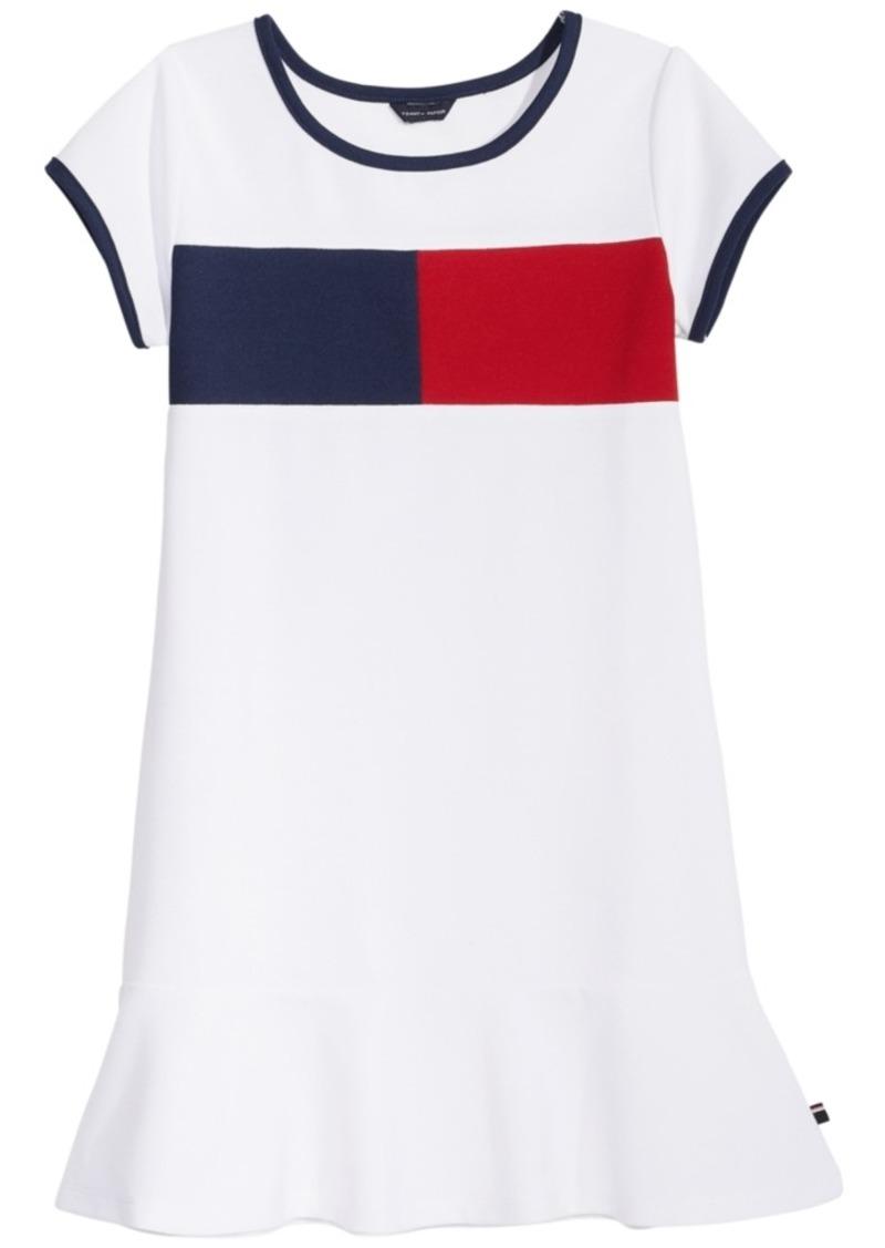 01f0be1f Tommy Hilfiger Tommy Hilfiger Logo-Print Pique Dress, Big Girls ...