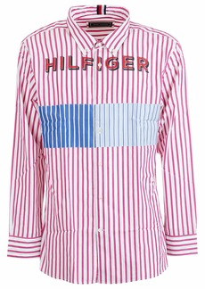 Tommy Hilfiger Logo Print Striped Shirt