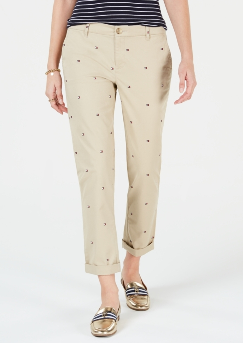 Tommy Hilfiger Logo Straight-Leg Pants