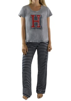 Tommy Hilfiger Logo T-Shirt & Striped Pants Pajamas Set