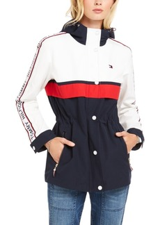 Tommy Hilfiger Logo-Tape-Trim Hooded Jacket, Created for Macy's