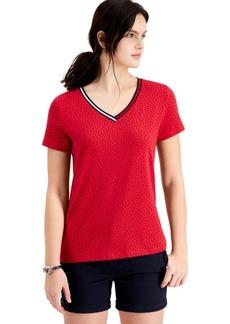 Tommy Hilfiger Logo V-Neck T-Shirt