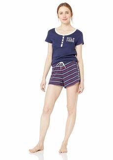 Tommy Hilfiger Logo Women's Top and Shorts Pajama Set Pj