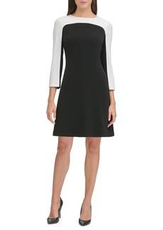 Tommy Hilfiger Long Sleeve Colorblock A-Line Dress