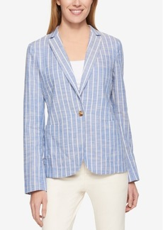 Tommy Hilfiger Long-Sleeve Striped Blazer, Only at Macy's