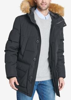 Tommy Hilfiger Men's Long Parka Jacket with Faux Fur Hood