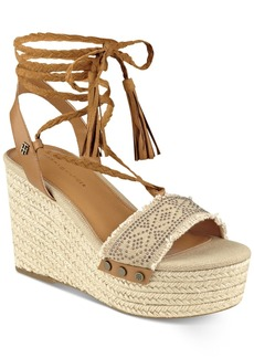 Tommy Hilfiger Lovelle Lace-Up Platform Wedge Sandals Women's Shoes