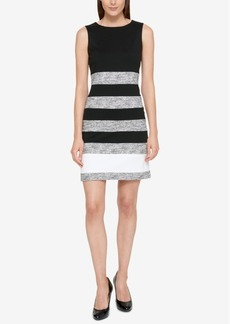 Tommy Hilfiger Marled-Stripe Sheath Dress