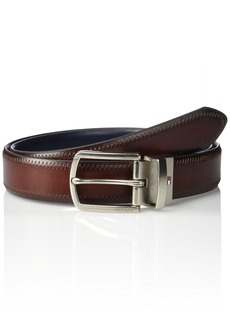 Tommy Hilfiger Men's Reversible Belt brown/blue
