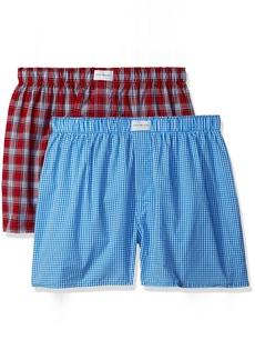 Tommy Hilfiger Men's Underwear 2 Pack Cotton Classics Woven Boxers
