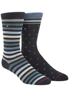 Tommy Hilfiger Men's 2-Pk. Printed Socks