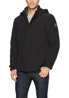 Tommy Hilfiger Men's 3-in-1 Soft Shell Jacket with Hooded Puffer Insert