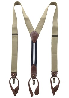 Tommy Hilfiger Men's 32mm Suspender with Convertible Clip Button End and Strap