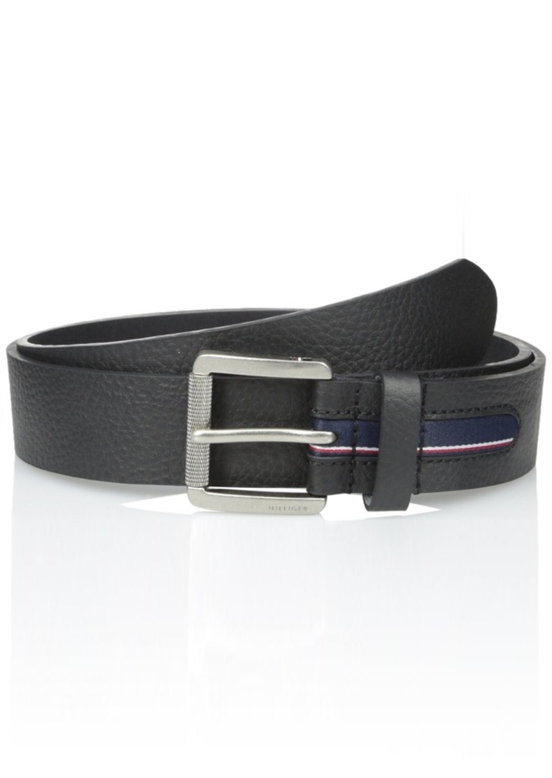 478c61dece Men s 1 1 2 in.Gnarled Buckle with Signature Stripe Ribbon Belt. Tommy  Hilfiger