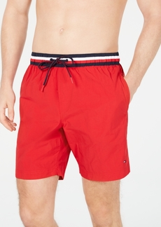 "Tommy Hilfiger Men's 7"" Atlantic Swim Trunks, Created for Macy's"