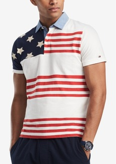 Tommy Hilfiger Men's Big and Tall Adams Flag Classic Fit Polo